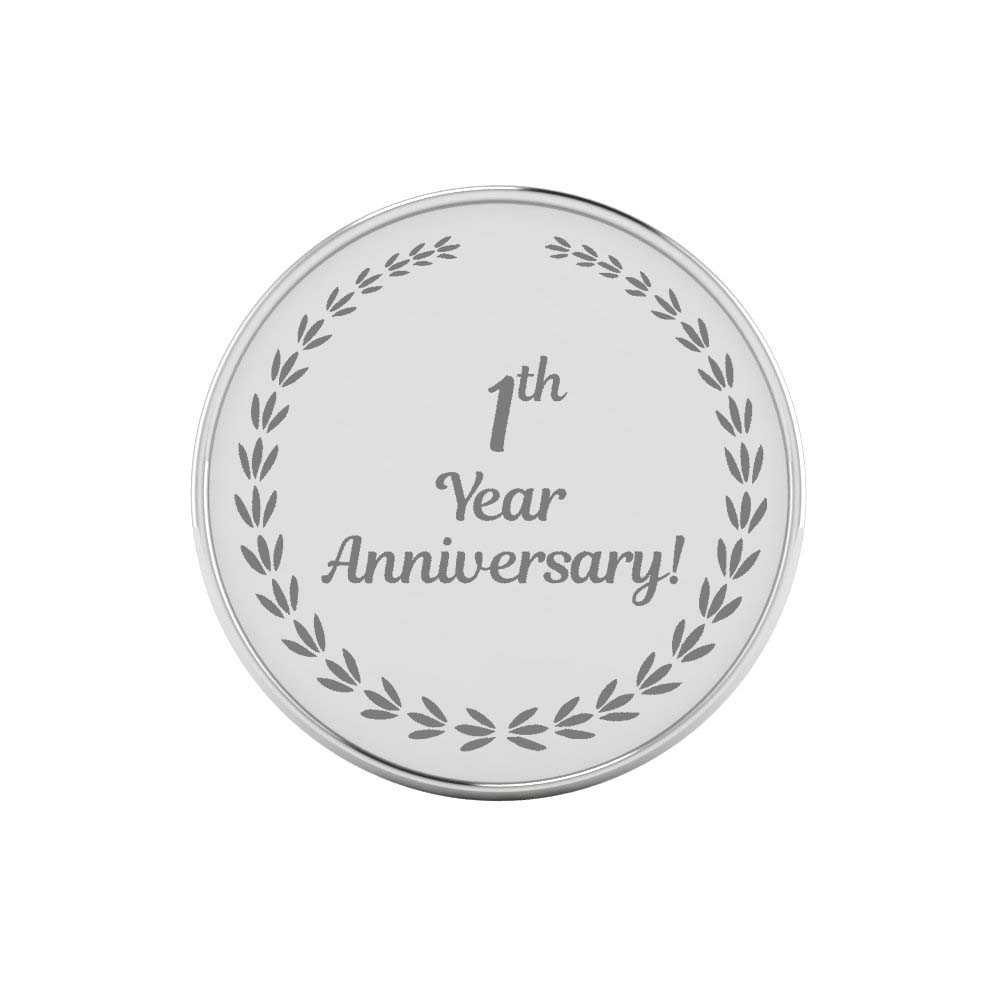 One Year Work Anniversary Silver Coins