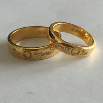 181003df23 Buy Gold Rings With Fingerprint Engraved | Platinum Fingerprint Ring