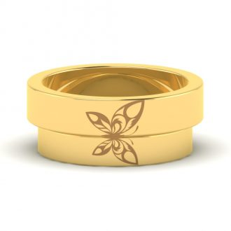 Butterfly Themed Joinable Couple Bands
