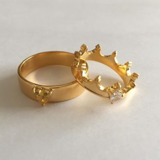 Royal King and Queen Couple Rings