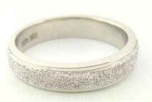 Diamond Dull Platinum Rings
