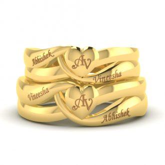 Ardour Heart Gold Rings