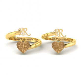Heart FingerPrint Rings
