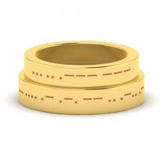 Love-In-Morse-Code-Gold-Couple-Rings