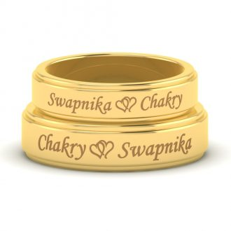 Entangled-Heart-and-Name-Engraved-Gold-Love-Bands