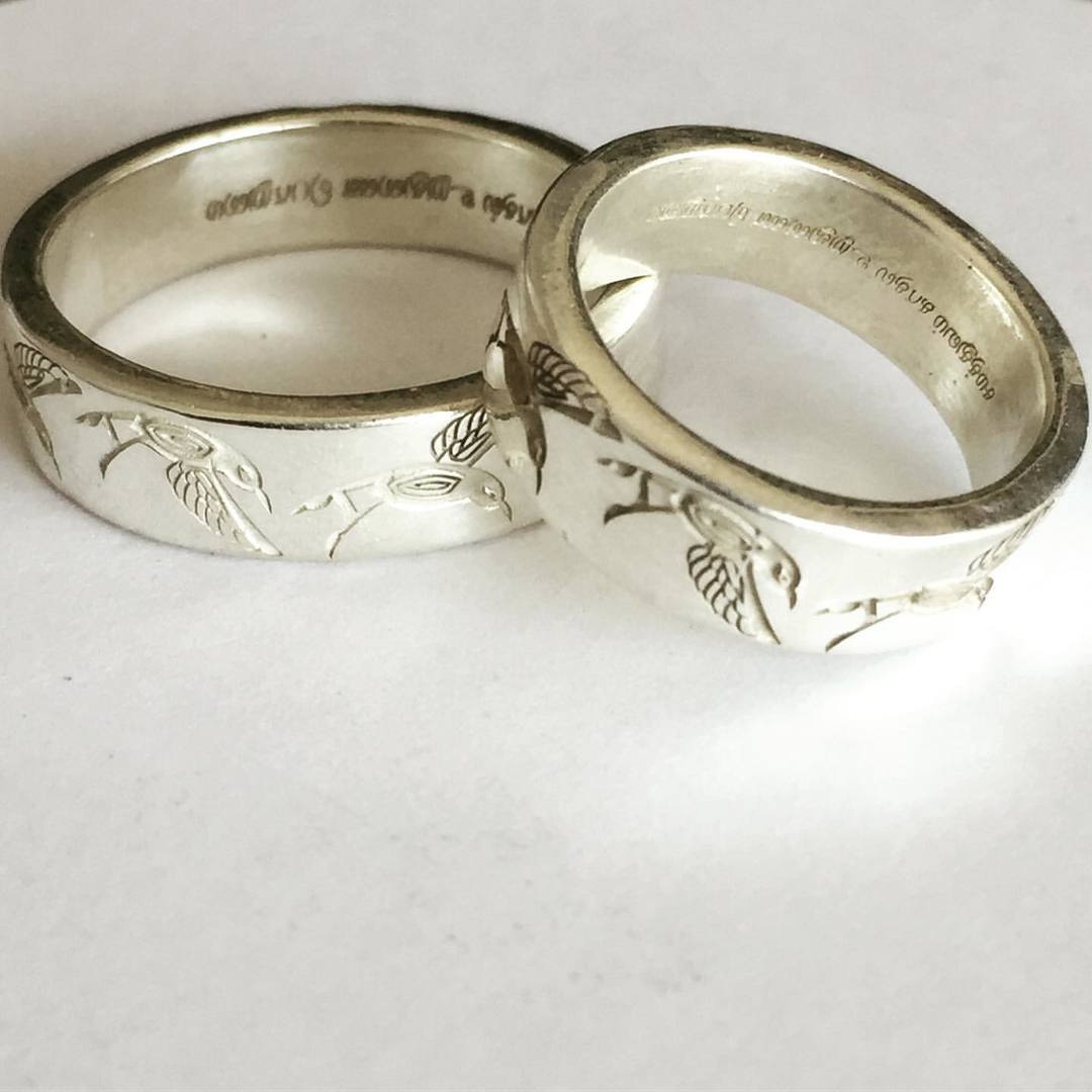 Parrots Engraved Silver Ring1.jpg