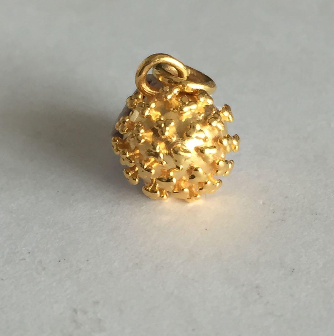 Corona Themed Gold Pendant1.jpg