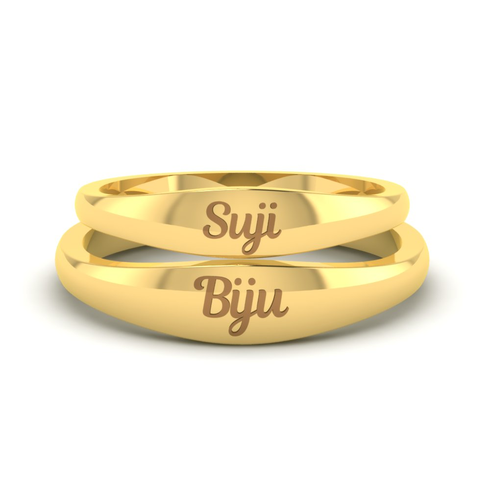 Simple Name Engraved Gold Rings1.jpg