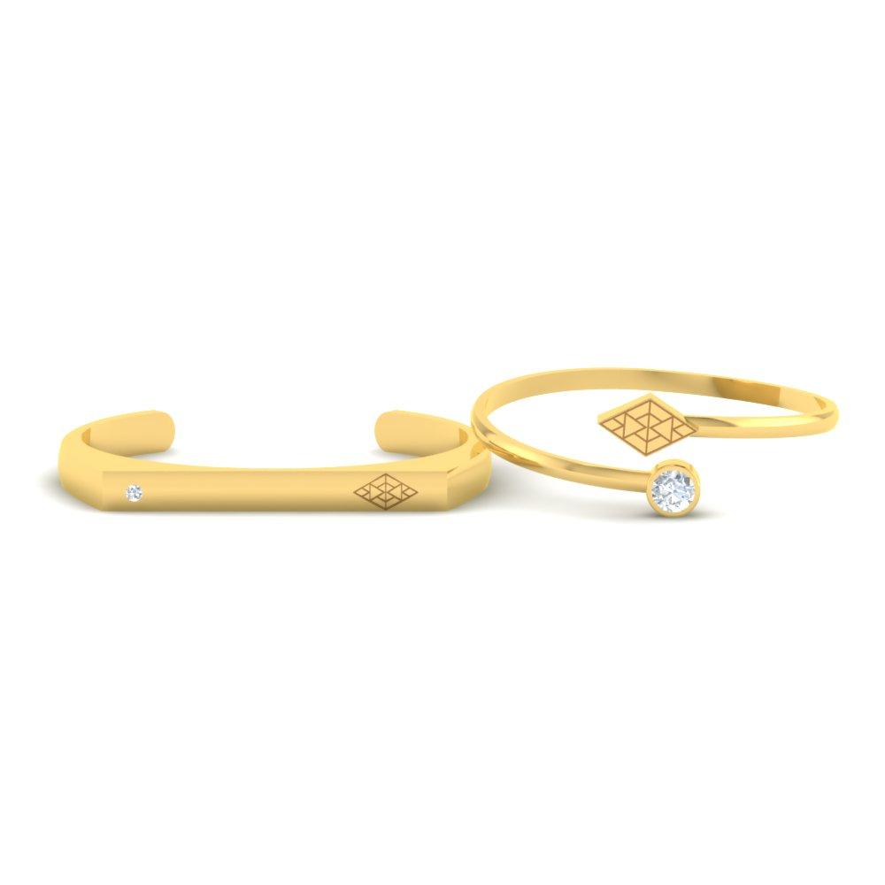 Diamond-Shaped-Gold-Couple-Cuff-Bracelets1.jpg