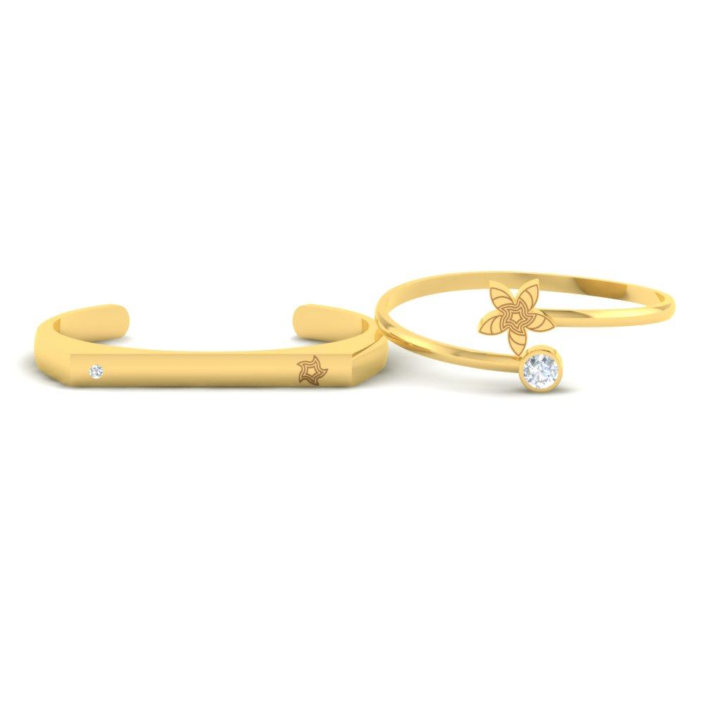 Flower-Patterned-Gold-Couple-Cuff-Bracelets1.jpg