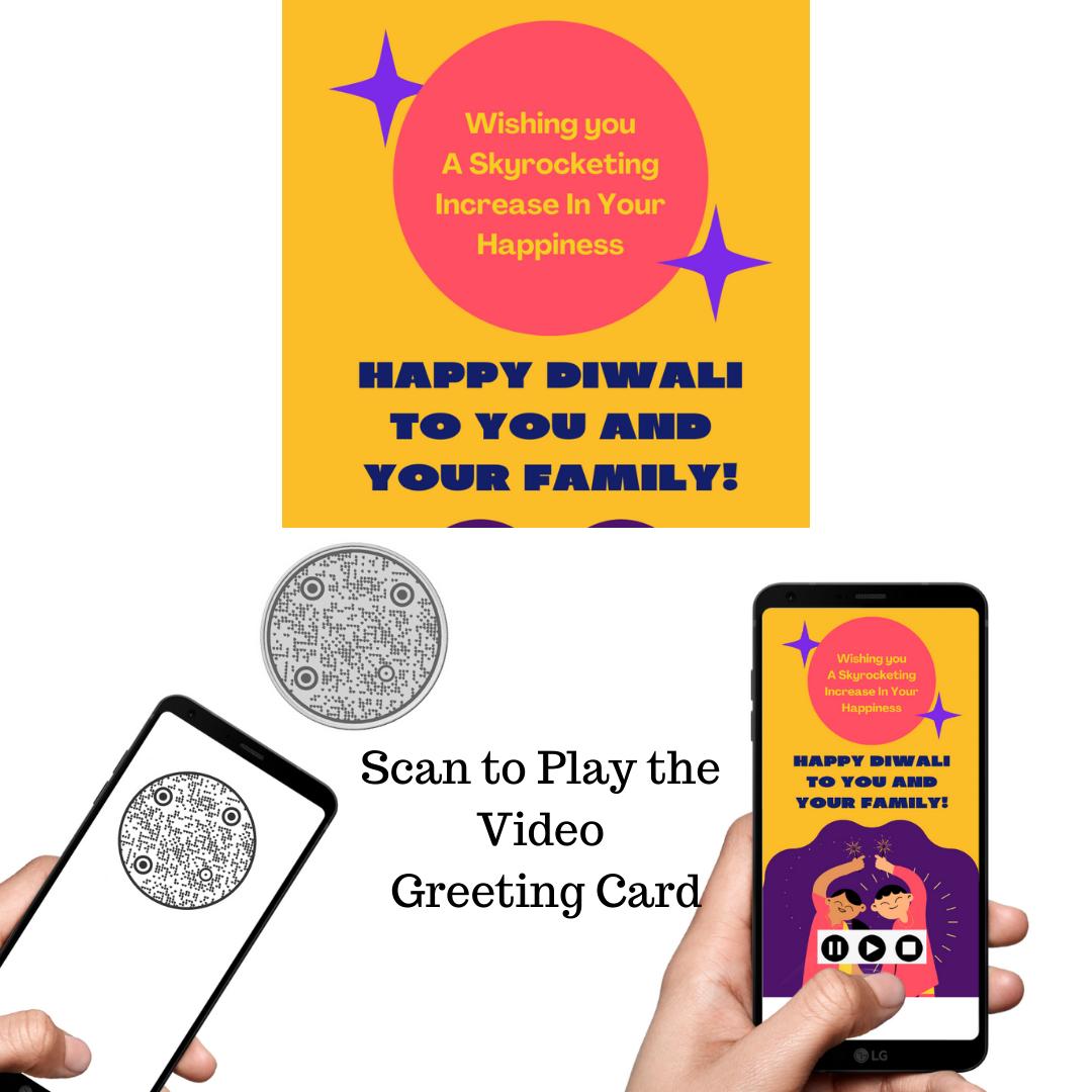 QR Code Silver Coin for Diwali