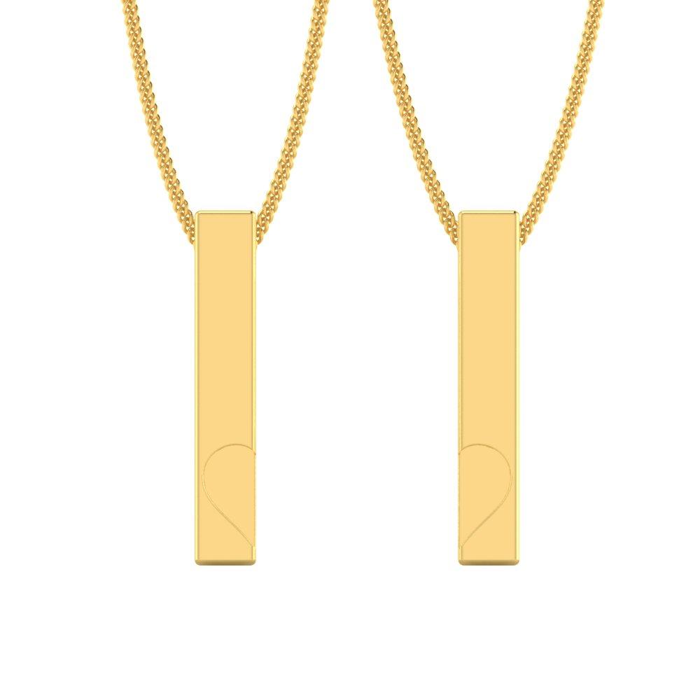 Deep-Heart-Gold-Bar-Couple-Pendants1